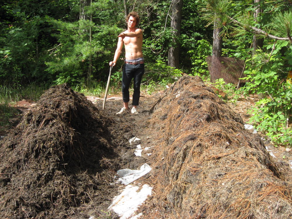 Toby made compost out of milfoil last summer
