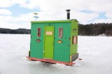 Ice Fishing Hut on Lake Fairlee